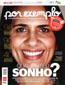 Capa da revista Por Exemplo
