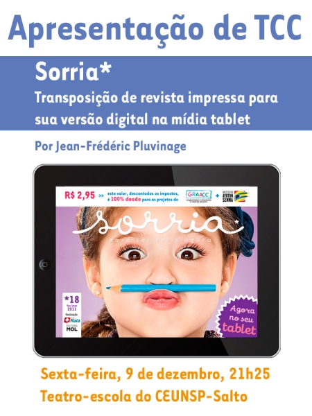 TCC sobre Revista Digital para Tablet